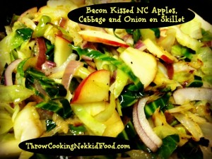 Bacon Kissed NC Apples, Cabbage and Onions