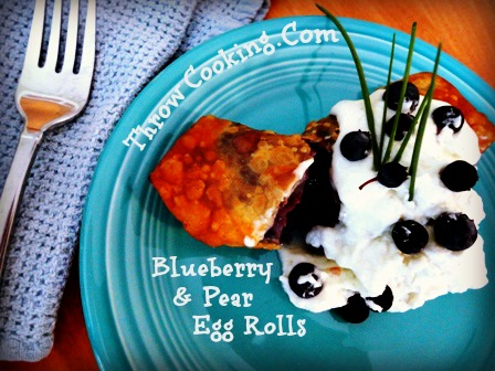 Blueberry and Pear Savory Egg Rolls
